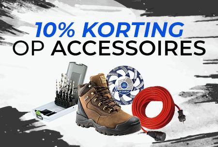 10% korting op accessoires