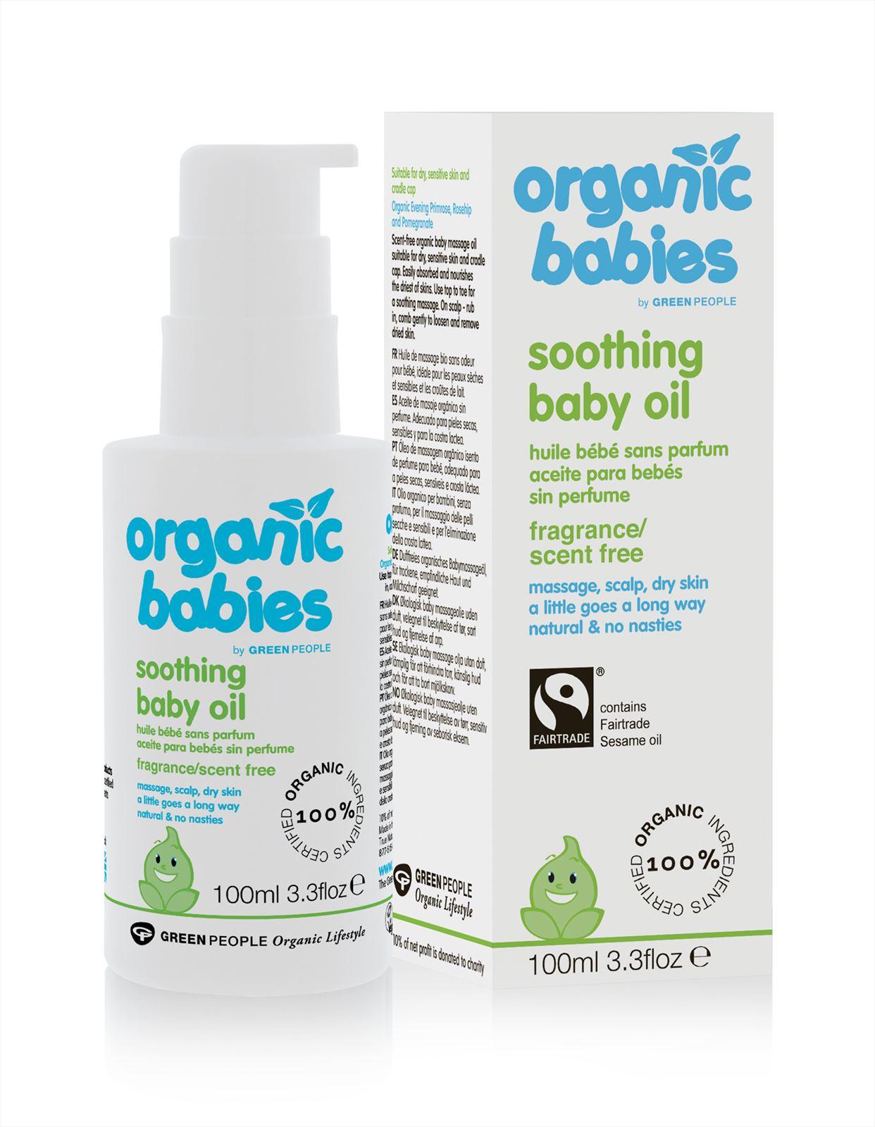 kalmerende baby olie